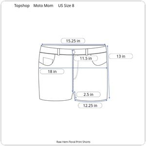 Topshop Shorts - Topshop Moto Mom Floral Blue Summer Shorts
